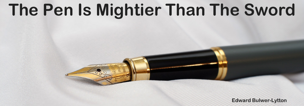 essay on pen is mightier than the sword Find speech on the pen is mightier than the sword for students and others find long and short the pen is mightier than the sword speech in very simple and easy words.